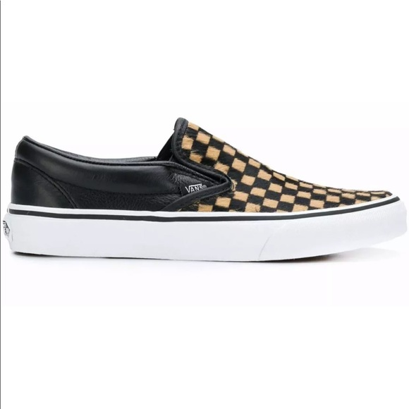de0f479db1 Vans Women s Classic Slip-On Calf Hair Checkered